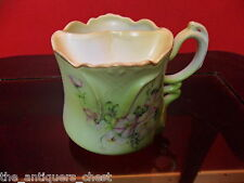 Moustache cup NIPPON Japan, gorgeous soft green  color and flowers[*81]