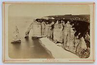 Etretat Senna Marittima Carta Armadio Vintage Albumina 1880