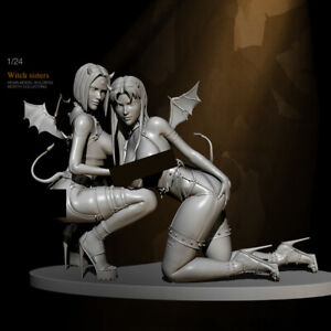 1/24 Resin Figure Model Kit Sexy Girls Witches Succubus Demons Unpainted