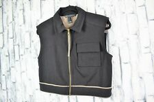 New listing Marc by Marc Jacobs Black Equestrian Cropped Pocket Front Vest Size S EUC