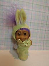 """Easter Clip On Bunny - 3"""" Russ Troll Doll - New - Rare"""