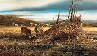 "Sharing the Bounty Deer Print By Terry Redlin 18"" x 10.5 Print"