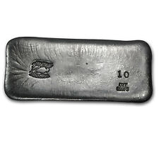 10 oz Bison Bullion Silver Bar - Hand Poured Silver Bar - SKU #80040
