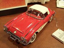 MIB FRANKLIN MINT 1/24 1959 RED CHEVROLET CORVETTE CLASSIC  SOME DOCS TOP & BOX