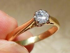 Lovely 18ct Gold Diamond Solitaire Ring 0.25ct Rex Set Hallmark Maker JAM Boxed