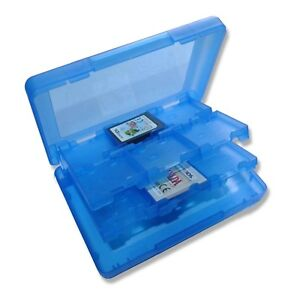 24 x Transparent Blue Game Card Case Holder for Nintendo 3DS XL DS DSi SD Cards