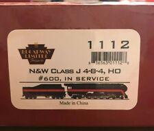 HO Broadway Limited Imports 1112 N&W Class J #600 4-8-4 Quantum Sound Locomotive