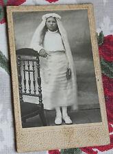 Photographie ancienne CDV Portrait communiante
