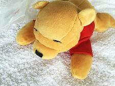 "BNWT RARE DISNEY STORE FLATMATE WINNIE THE POOH LAYING DOWN BEANIE GIFT 9"" LONG"
