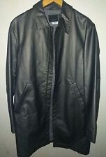 Ted Baker Pewter Silver Dark Gray Wax Coated Mac Coat Jacket Size Small