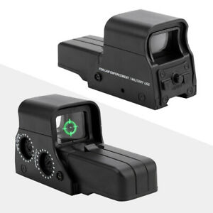 Holographic Sight Airsoft Holographic With 21-23mm Rail Green Dot Sight