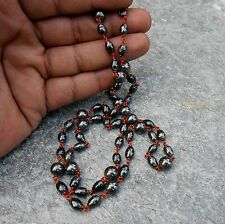 A+ HIMALAYAN HEMATITE MAGNETITE ( LODESTONE ) COPPER NECKLACE FOR MAGNET THERAPY