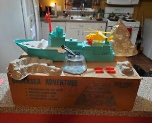 1963 MPC Undersea Adventure Sea Creatures Play Set Original Box Creatures Divers