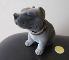 Pit Bull Dog  / Gray Bobbing Head Dog /  Bobble Head Toy