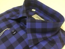 "ETON  15""Collar  40 1/4""Chest  SML  SLIM FIT  Blue/Navy Checked Shirt  RRP £139"