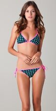 MARC JACOBS NWT Reversible Light Hearted Navy/Pink Triangle Bikini Swimsuit~ MED