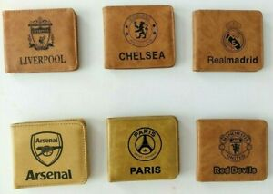 Football Club Team PU EMBOSSED Logo Design Wallet Birthday Gift Casual Fan Offic