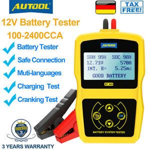 12V Auto Batterietester Batterieladegeräte Testgerät Diagnosegerät PKW OBD KFZ