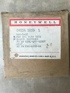 Vintage HONEYWELL T87A THERMOSTAT SUBBASE NOS Q405A GOLD COLOR Hvac Heating