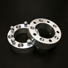 "2pc 2.0"" Thick Wheel Spacers - 5x5.5 to 5x5.5 - 1/2"" Studs - for Ford Dodge Jeep"