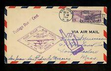 US Postal History Airmail FAM 6 San Juan PR Puerto Rico San Pedro Dominica 1931