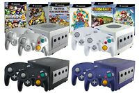 Nintendo GameCube Konsole + 1 2 3 4 Controller, Kabel, Strom & Spiel-Wahl