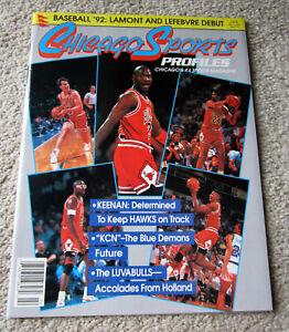 Michael AIR Jordan1992 Chicago Sports Program NBA 1984 Basketball Vtg Bulls Rare