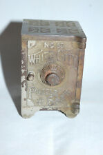 "New ListingCast Iron ""White City Puzzle Safe #10"" Safe Still Bank"