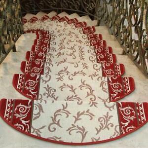 Non-slip Stairs Carpet Self-adhesive European Pastoral Floral Rug