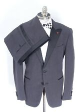 NWT ISAIA Black Chambray All Seasons Silk Tuxedo Suit 46 R (EU 56) Drop 7