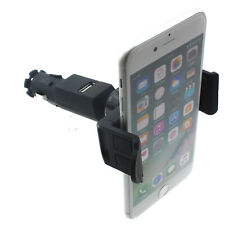 For iPhone SE (2020) - CAR MOUNT CHARGER HOLDER DC SOCKET USB