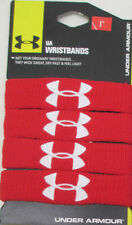 "Under Armour UA Performance 1"" Unisex Wristbands Sweatbands 4-Pack RED"