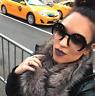 Round Razor Cut Off Lenses Women Sunglasses Shadz BLACK GAFAS