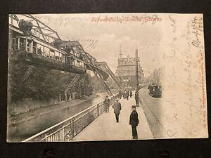 Schwebebahn Strecke Barmen um 1904  Tramway Straßenbahn 80196