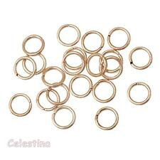 100 x 8mm Rose Gold Jump Rings - Closed Unsoldered Linking - Hoops - JR29