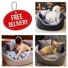 Luxury Crushed Velvet Machine Washable Zipped Cat and Dog Beds 3 sizes 3 colours