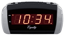 Super Loud Led Alarm Clock Digital Extra Loud Alarm 30240 Blk/silver .