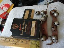 VINTAGE BOY SCOUTS Handicraft Materials OF AMERICA Dance BELLS Bell Kit 2666