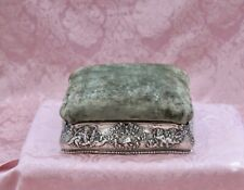 19th Century Tiffany & Co. Sterling Silver  Sewing Box with  Repousse Cherubs