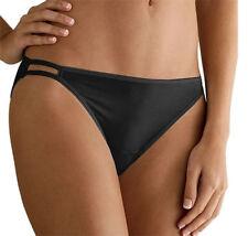 4 pairs VANITY FAIR String Bikini ILLUMINATION 18108 BLACK Panty Size - 9 / 2XL