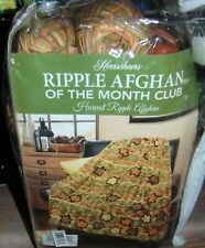 Rare Herrschners Ripple Afghan Of The Month Kit~Harvest Ripple~New~Complete