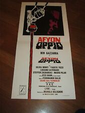 LOCANDINA,1972,Afyon - Oppio,Ferdinando Baldi.Ben Gazzara:Monti