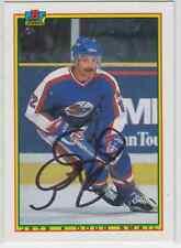 Autographed 90/91 Bowman Doug Smail - Jets