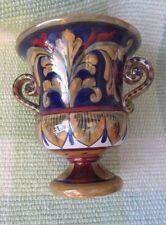 Italian Art Pottery Mauro Mordenti Umbria Loving Cup Small Vase Lustrous Glaze!