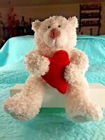 HALLMARK VALENTINE'S DAY WHITE BEAR with RED HEART ANIMATED PLUSH SOUND & MOTION