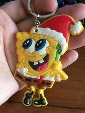 Spongebob christmas hat silica gel key chain key chains manga key ring