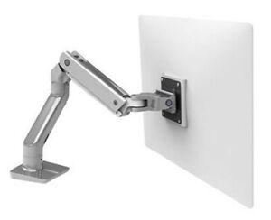 Ergotron HX Desk Monitor Arm Heavy Monitor Mount - Polished Aluminum