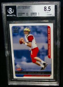 BGS 8.5 NM/MT+ 2000 Pacific Paramount TOM BRADY Rookie Football Card #138 RC