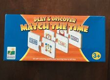 Play & Discover Match The Time Puzzle teaches how to tell time