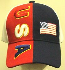 OLYMPIC UNITED STATES OF AMERICA USA U.S. FLAG AMERICAN BLUE RED WHITE CAP HAT